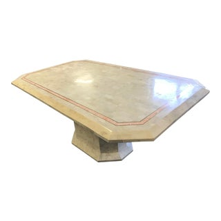 1970s Vintage Maitland-Smith Tessellated Marble Dining Table For Sale