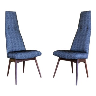 Adrian Pearsall High Back Dining Chairs 2051 -C - a Pair For Sale