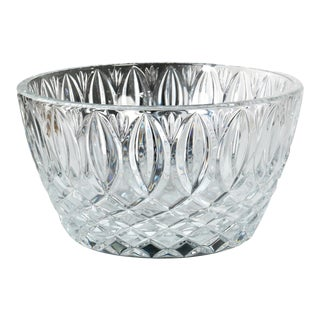 Large Heavy Waterford Cut Crystal Serving / Salad Bowl For Sale