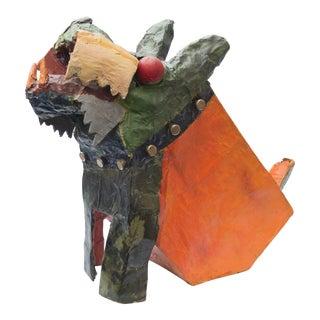 Seymour Chwast Paper Mache Dog Sculpture For Sale