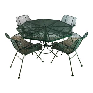 Russell Woodard Outdoor Patio Set For Sale