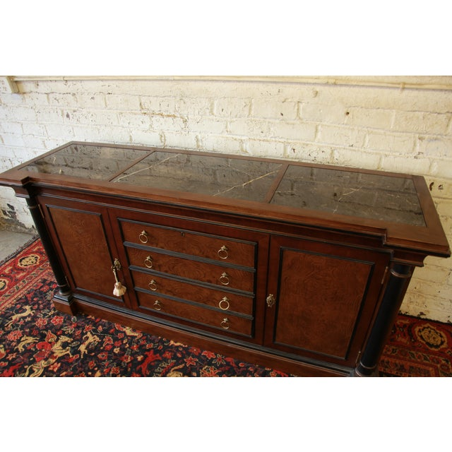 Ferguson Copeland Marble Top Buffet For Sale - Image 5 of 9