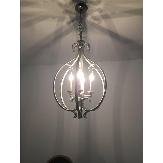Transitional Silver-Tone Chandelier - Image 3 of 5