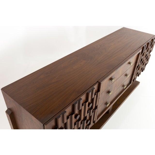 20th Century Brutalist Pedestal Lowboy Dresser For Sale - Image 10 of 12