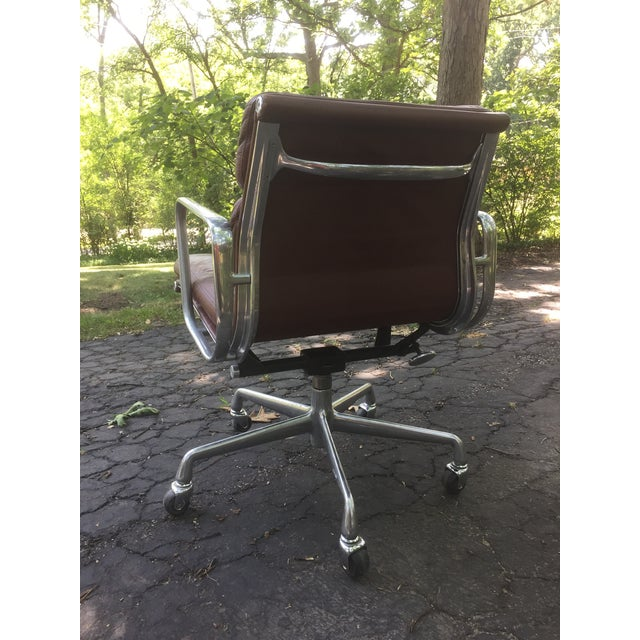 Herman Miller Eames Herman Miller Soft Pad Leather Office Chair For Sale - Image 4 of 7