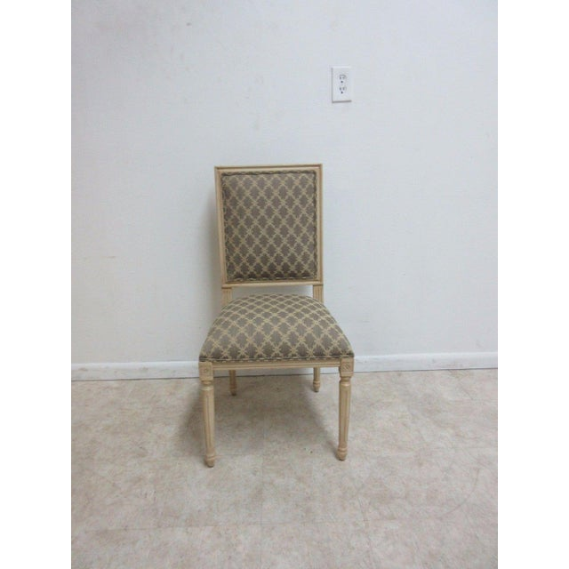 "A pair of Ethan Allen side chairs. Seat height 21"" great shape... Minor paint wear... Some rub marks... Please see photos..."