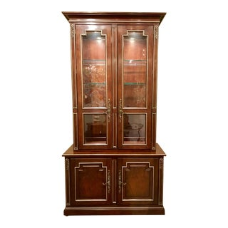 Henredon Traditional Marseilles Mahogany Finished China Cabinet/Display Cabinet For Sale