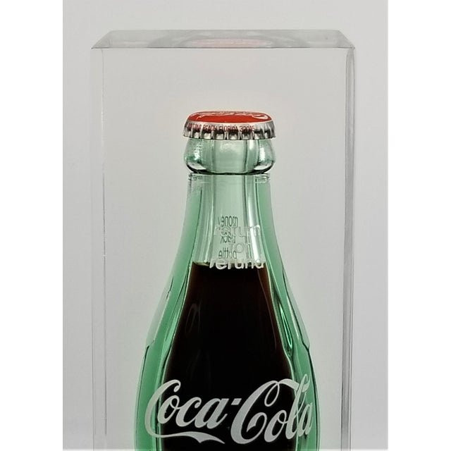 Coca Cola Bottling Co. Pop Art Lucite Sculpture With Submerged Coke Bottle Mid Century Modern Abstract Surrealism Andy Warhol Style For Sale - Image 4 of 12