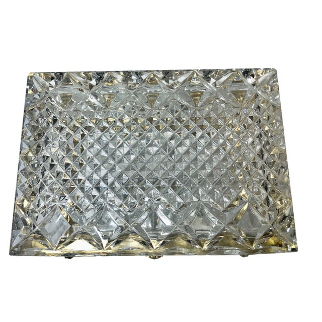 Glass Mid-Century French Large Crystal Box For Sale - Image 7 of 10