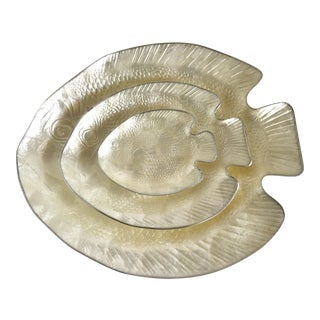 Fish Serving Trays - Set of 3