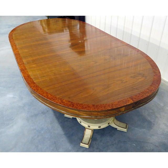 Regency Style Dining Room Table For Sale In Philadelphia - Image 6 of 8