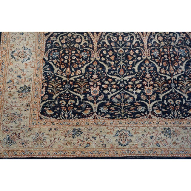 8' X 9' Vintage Wool Peshawar Oriental Rug For Sale - Image 4 of 11