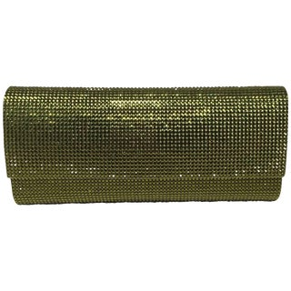 Judith Leiber Green Crystal Evening Bag Clutch For Sale