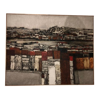 Abstract Cityscape Painting by John Ridgewell For Sale