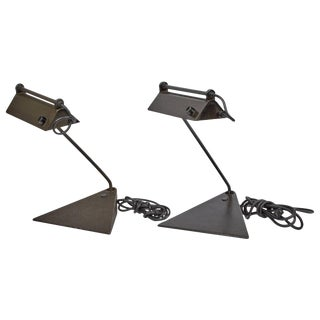 Koch & Lowy Adjustable Desk Lamps, Circa 1960 - a Pair For Sale