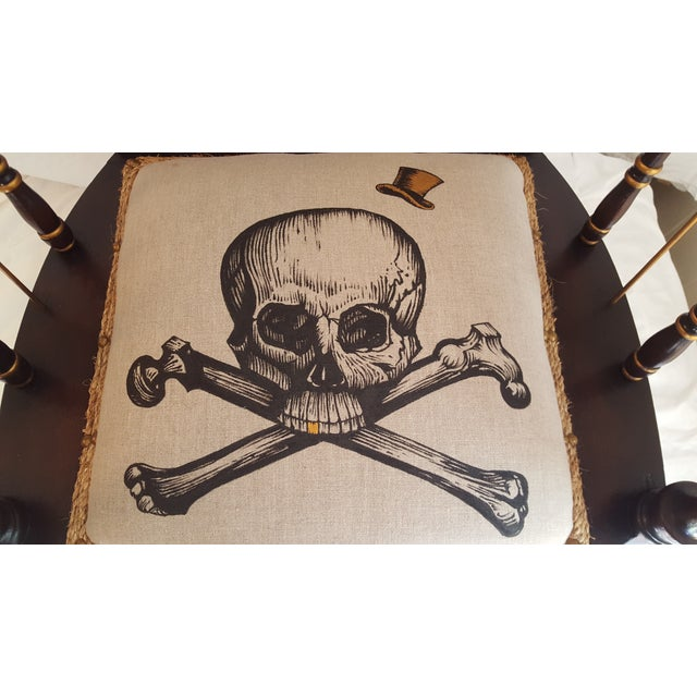 Skull and Bones Accent Chair - Image 5 of 8