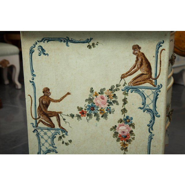 Paint Venetian Hand-Painted Serpentine Commode For Sale - Image 7 of 10