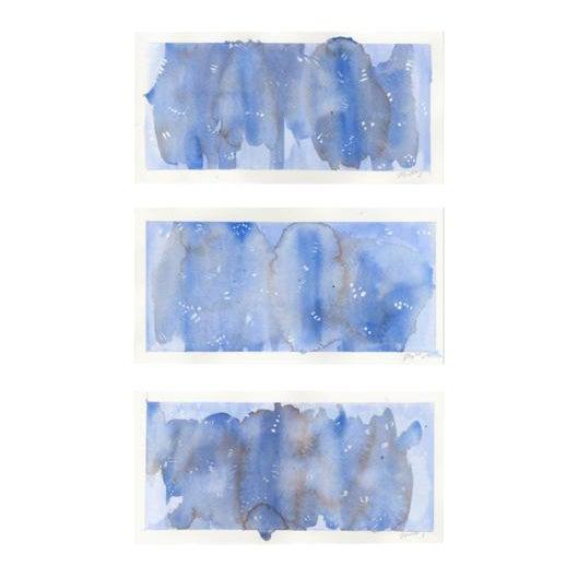 "Original ""Amethyst"" Watercolor Paintings - Set of 3 For Sale"