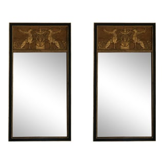Empire Neoclassical Trumeau Mirrors - a Pair For Sale