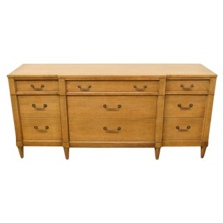 "Century Furniture Italian Neoclassical 70"" Triple Dresser For Sale"