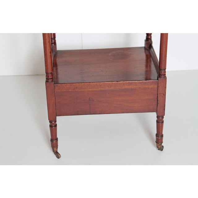 Brass George III Four-Tier Mahogany Whatnot With Drawer For Sale - Image 7 of 13
