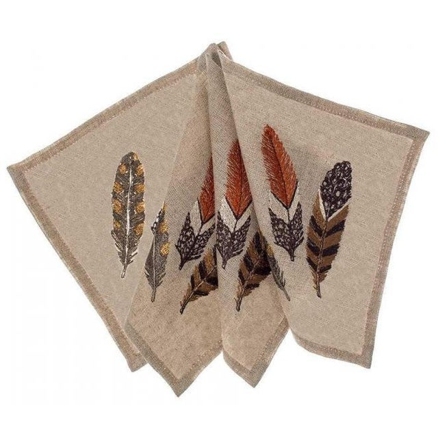 Feathers Cocktail Napkins - Set of 4 - Image 4 of 6