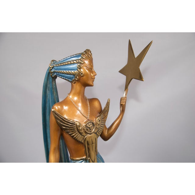 """Art Deco """"Astra"""" Limited Edition Bronze Statuette by Erte For Sale - Image 3 of 8"""