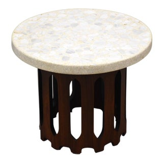 Harvey Probber Walnut & Terrazzo End Table For Sale