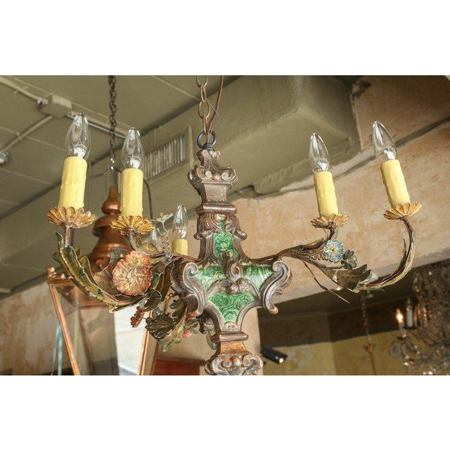 Small Painted Italian Chandelier - Image 7 of 7
