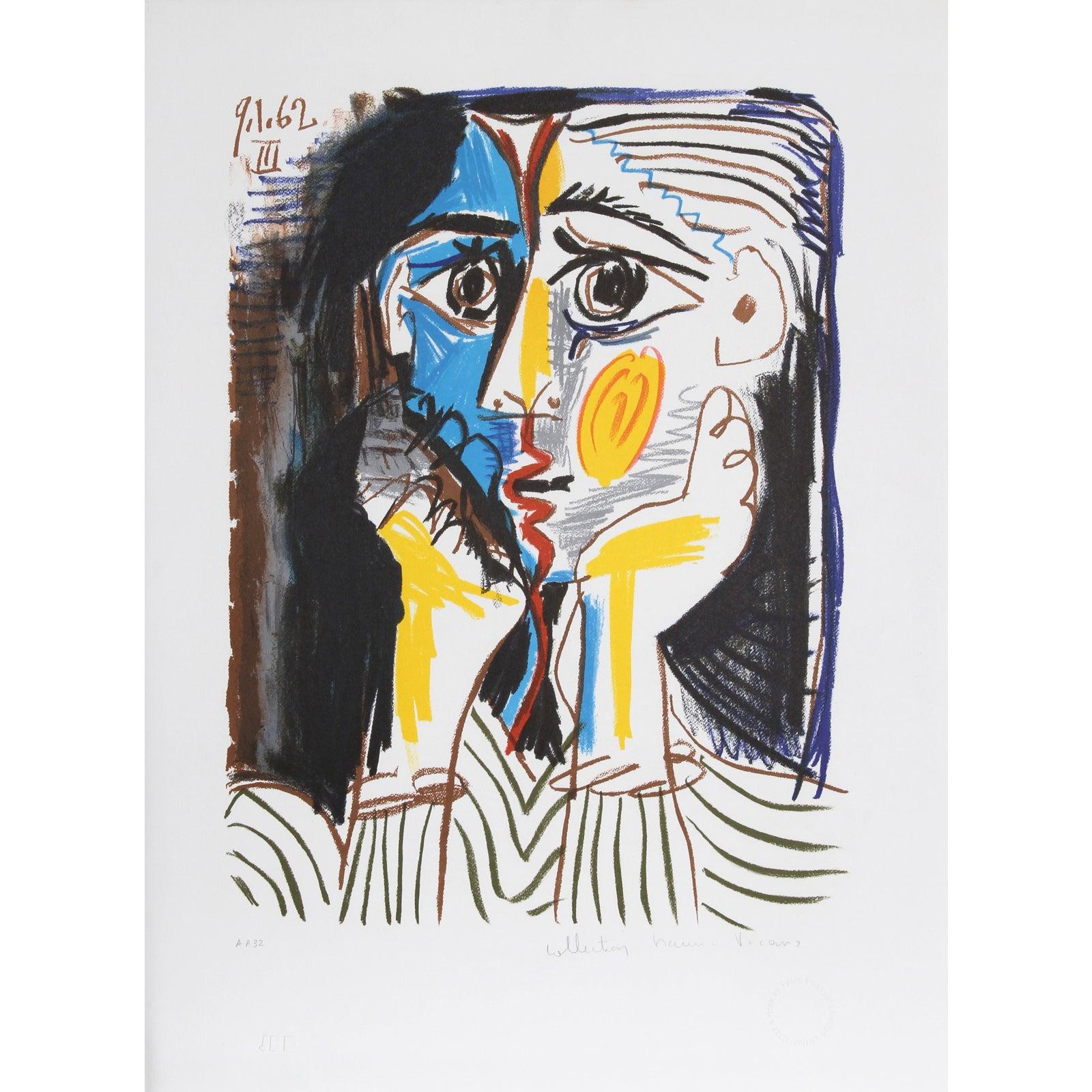 """Pablo Picasso """"Visage"""" Lithograph"""