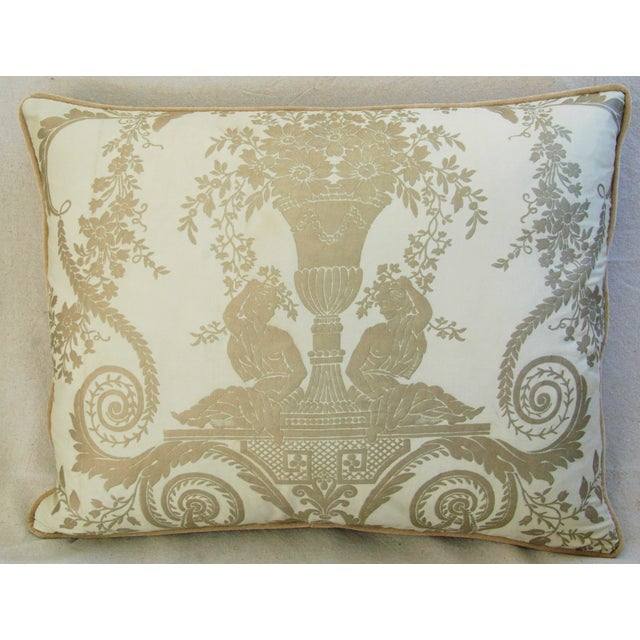 Custom Italian Fortuny Lamballe Pillows - Pair - Image 5 of 11