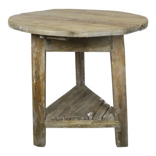 English Pine Cricket Table C. 1900's For Sale
