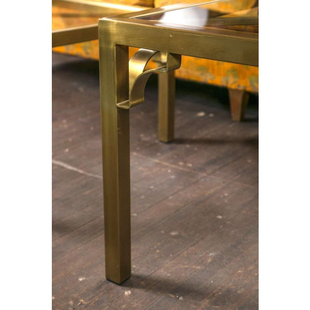 1960s Vintage Mastercraft Brass End Table For Sale - Image 17 of 19
