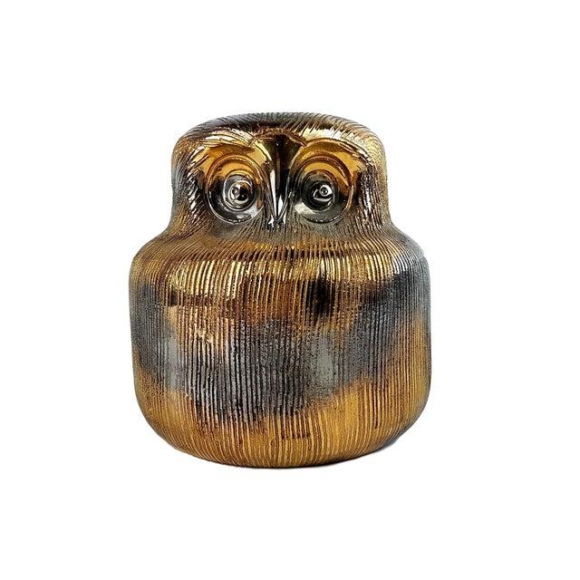 Gold Bitossi Ceramic Owl For Sale