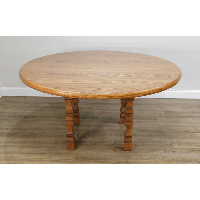 Traditional Romweber Viking Oak Round Dining Table For Sale - Image 3 of 13