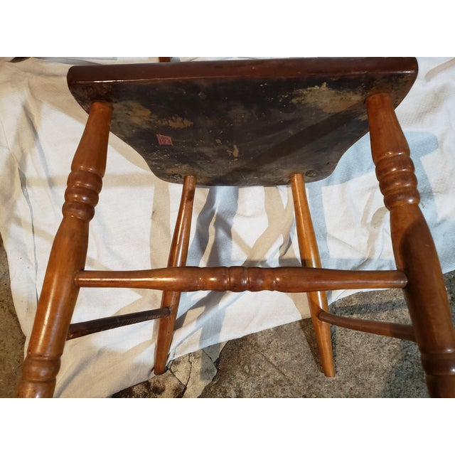 1825 Spindle Back Windsor Chair For Sale - Image 9 of 11