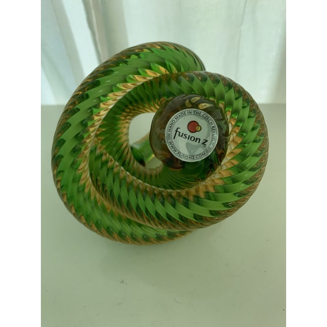 Czech Republic Glass Knot by Fusion Z For Sale In Cleveland - Image 6 of 7