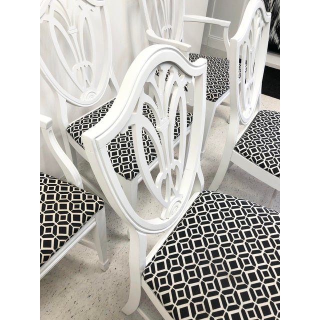 Bernhardt Bernhardt Chippendale Style White Lacquered Dining Chairs - Set of 6 For Sale - Image 4 of 9
