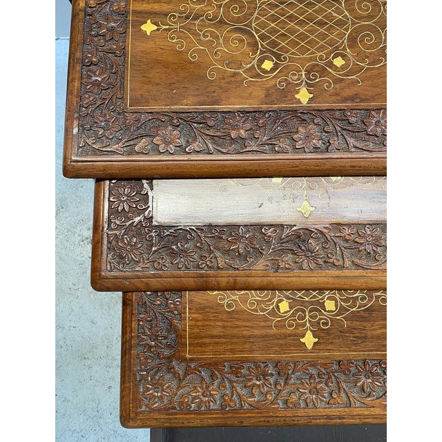 1960s 1960s Asian Stacking/Nesting Tables - Set of 4 For Sale - Image 5 of 10