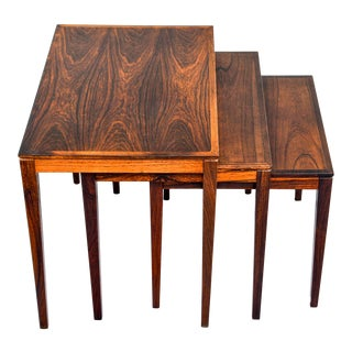 Mid Century Danish Rosewood Nesting Tables - Set of 3 For Sale