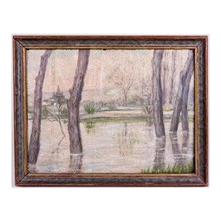 Antique European Landscape Oil Painting For Sale