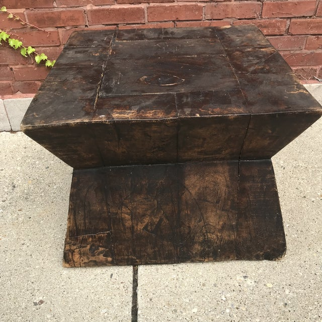 1920s Industrial Chic Antique Table For Sale - Image 5 of 9