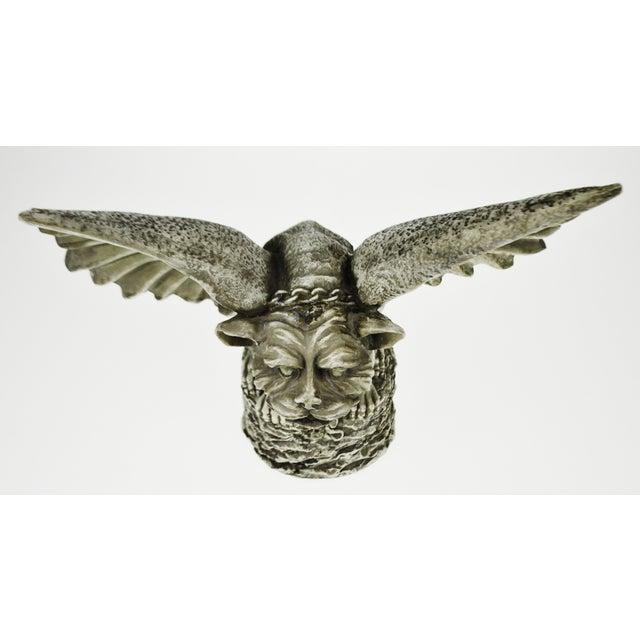 Vintage Gothic Grotesque Gargoyle Winged Dog Statue - Image 6 of 11
