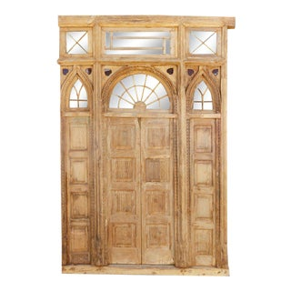 Antique Indo Portuguese Door Facade For Sale