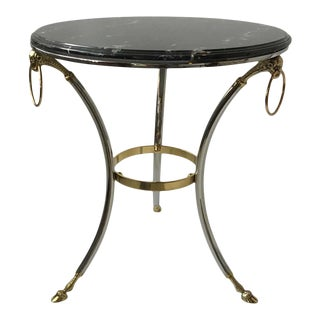 Maison Jansen Style Black Marble Gueridon Table For Sale