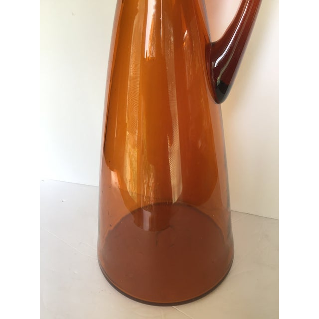 Mid-Century Modern Mid-Century Blenko Orange Pitcher Winslow Anderson For Sale - Image 3 of 9
