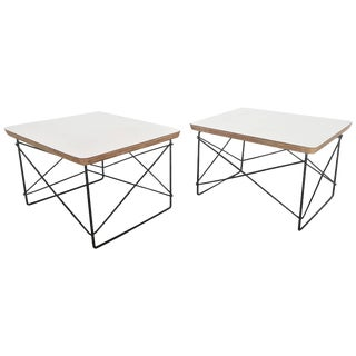 Pair of Charles and Ray Eames Ltr Table by Herman Miller For Sale