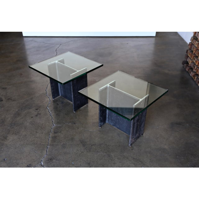 Gerald McCabe I Beam Side Tables Circa 1965 - a Pair For Sale - Image 13 of 13