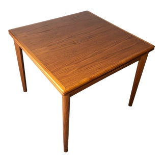 Vintage Mid Century Modern Danish Expandable Dining Table For Sale