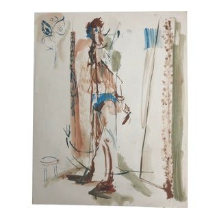 1950's Vintage Abstract Male Figure by Robert Colborne For Sale